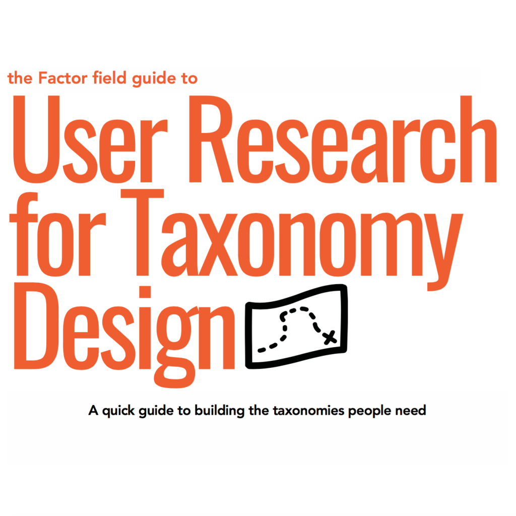 Factor User Research for Taxonomy Design cover page