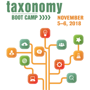 Logo Image: Taxonomy Bootcamp, November 5-6, 2018