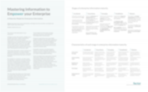 Blurred image of maturity model poster